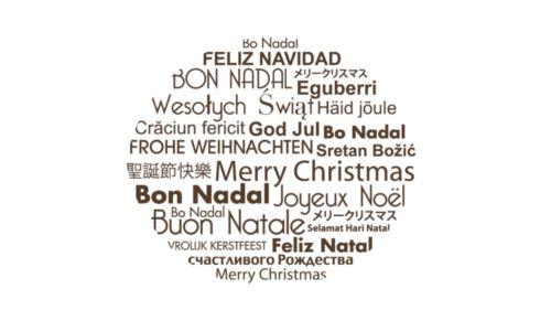 Bon Nadal / Merry Christmas / Feliz Navidad.