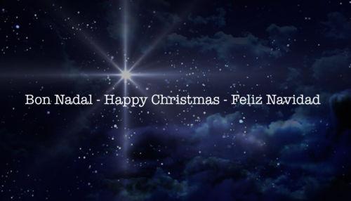 Bon Nadal – Happy Christmas – Feliz Navidad.